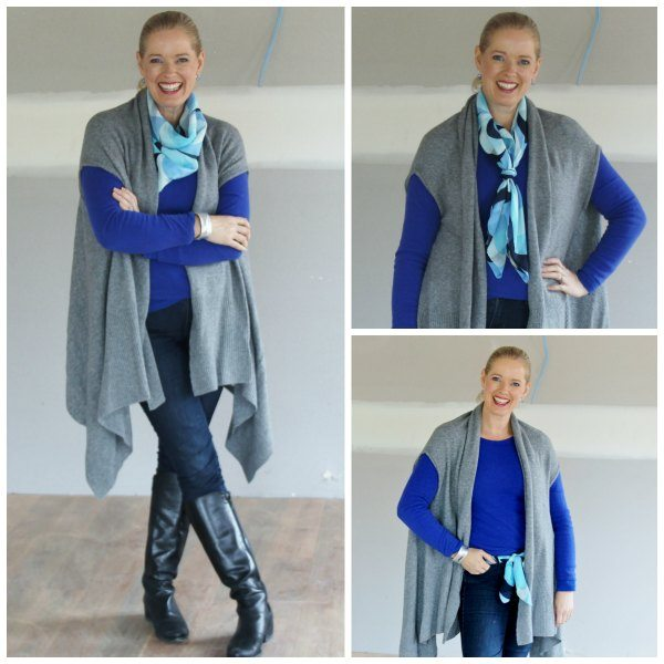 Style a scarf multiple ways
