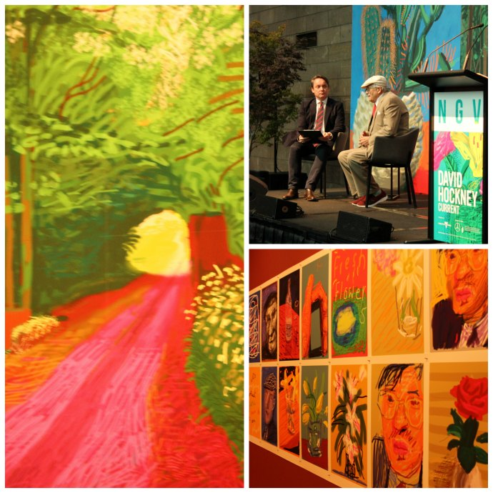 David Hockney exhibition at NGV