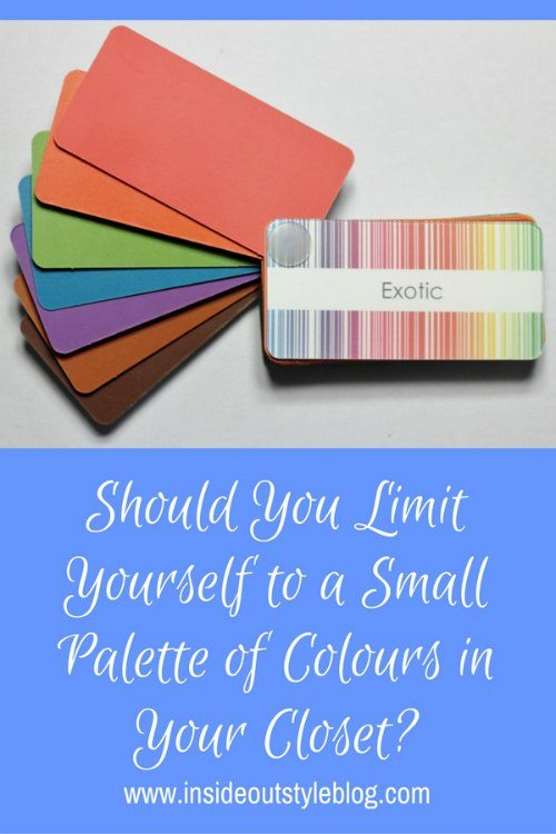 Should yo ulimit yourself to a small palette of colours in your closet?