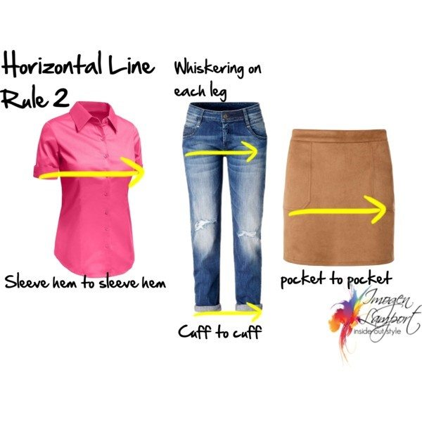 How you can use horizontal lines to broaden or balance your body shape