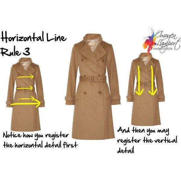 How to choose clothes based on the illusion that horizontal lines have