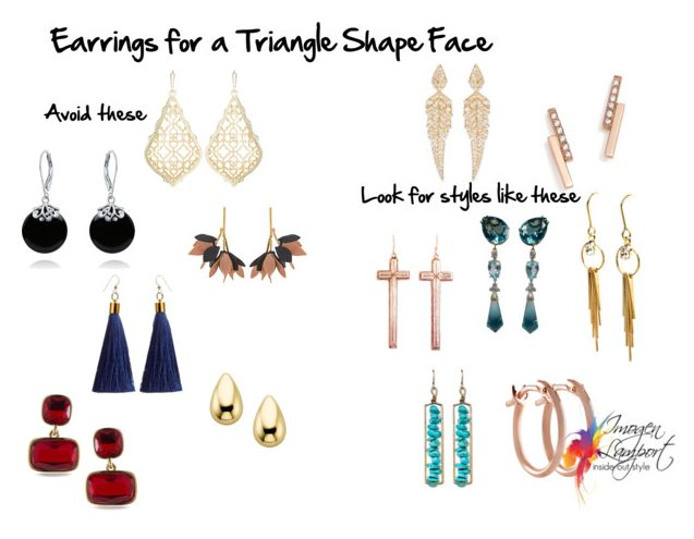 Earrings to flatter a triangle shape face