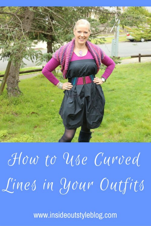 how to use curved lines in your outfits