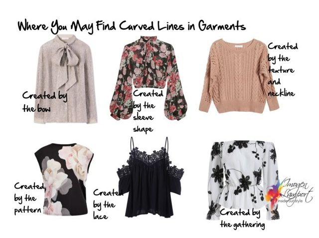 Curved lines in garments and how to use them to create a flattering appearance