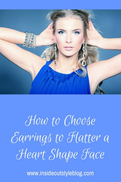 How to choose earrings to flatter a heart shape face