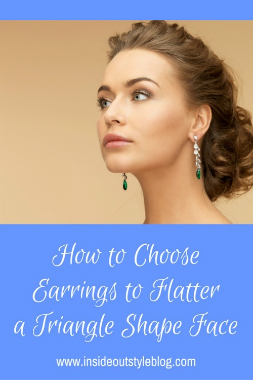 How to choose earrings to flatter a triangle or pear shape face