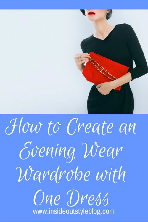 how to create an evening wear wardrobe with one dress
