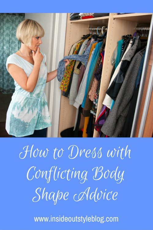 How to dress with conflicting body shape advice
