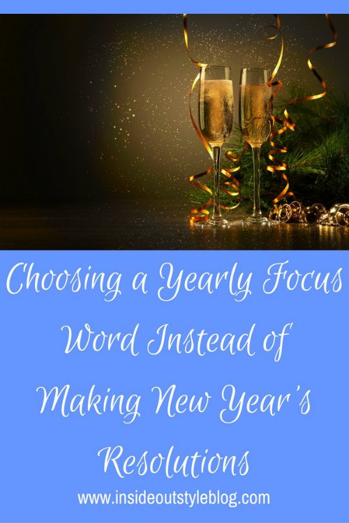 New Years Resolution Alternative - choose a word to make your yearly focus