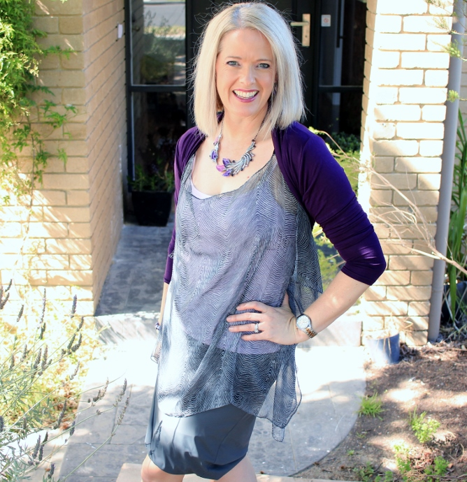 My Summer Style - purple and grey