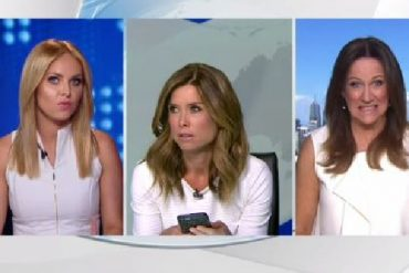 Channel 9 News presenters and guest turn up in white tops
