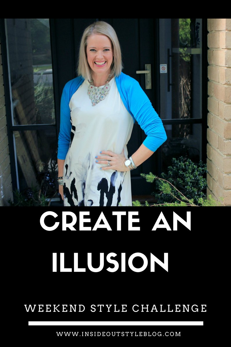 Create an illusion with your outfit - a fun style challenge