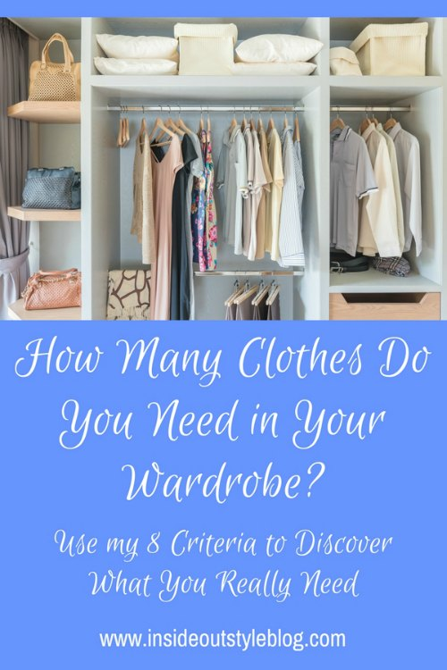 how many clothes do you need in your wardrobe inside out style