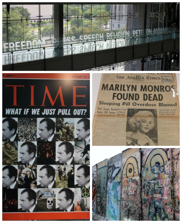 What to do on a weekend in Washington DC; Newseum in Washington DC