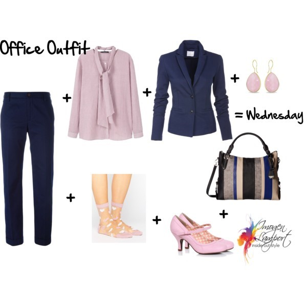 A week's worth of pants based office outfits starring sheer socks