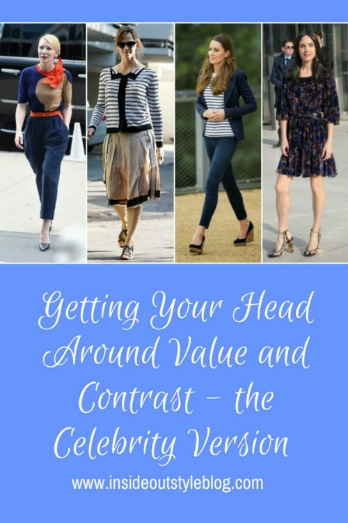 Getting Your Head Around Value and Contrast - the Celebrity Version - why some outfits work and others don't - find out more - click here