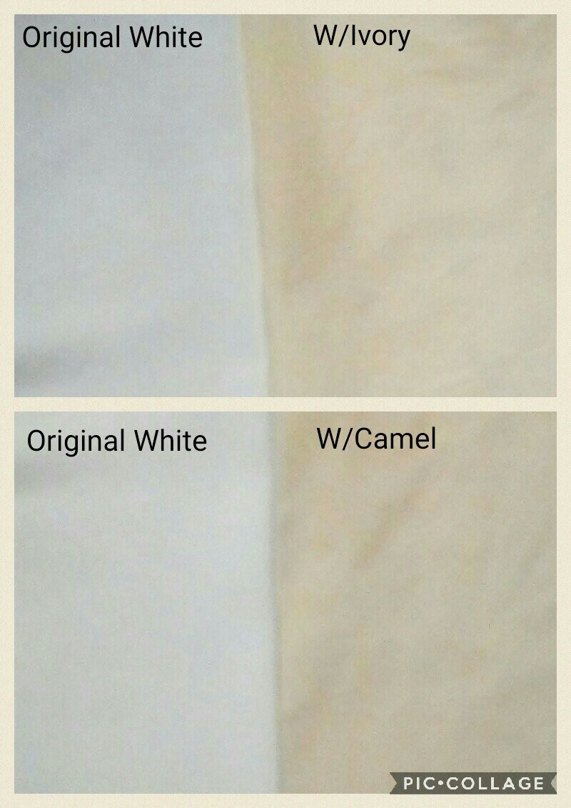 how to overdye white to a ivory or camel