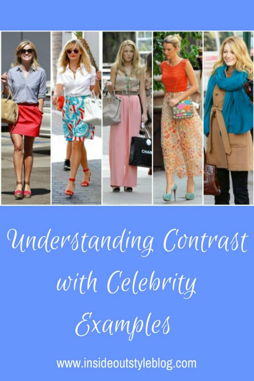 Understanding contrast - both colour contrast and value contrast, as well as ideal value level - with celebrity examples