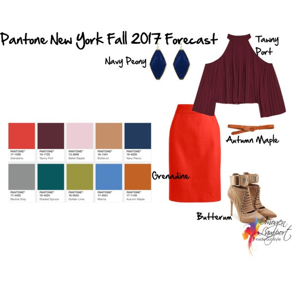 Pantone New York Fall 2017 Colour mixing