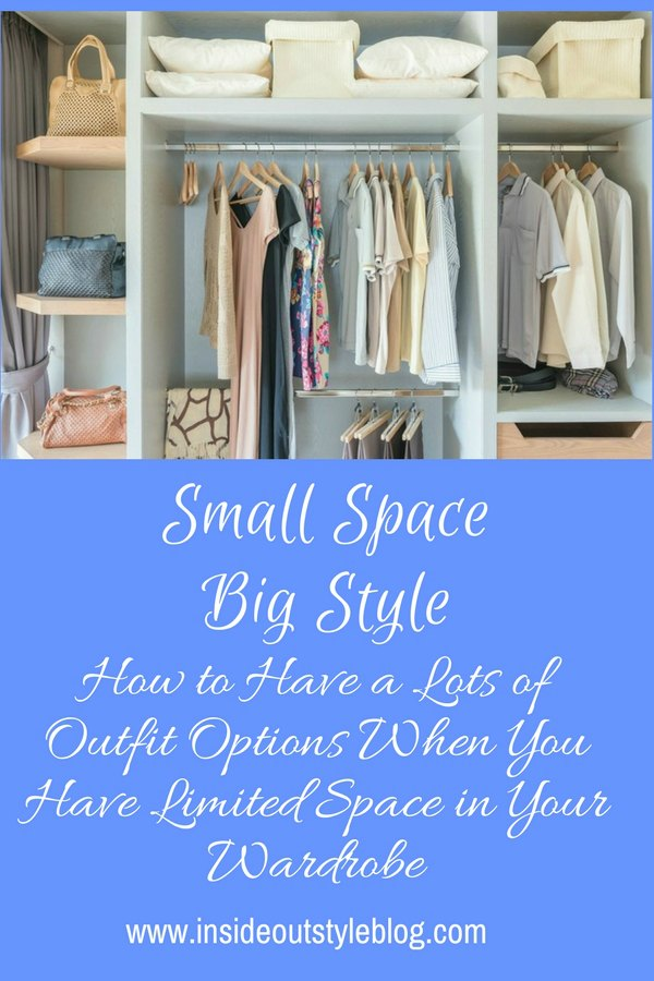 Small Space Big Style - Wardrobe organisation and tips on having lots of outfits with limited space - find out more and watch the video - click here