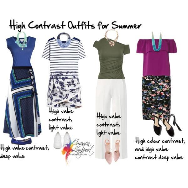 How to create summer outfits in a high contrast - find out more click here