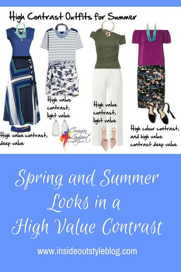 How to Create a Spring or Summer Outfit in a High Value Contrast without it Looking Heavy or Wintery