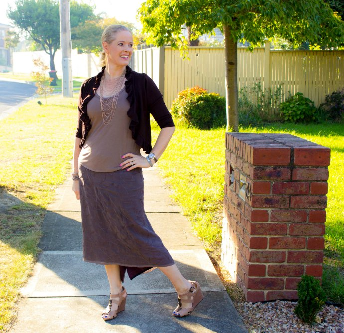 How to make a monochromatic outfit more interesting