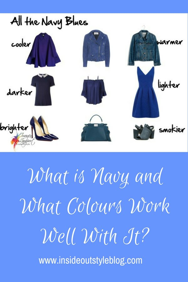 What is navy and how to wear it - what colour schemes it works well with