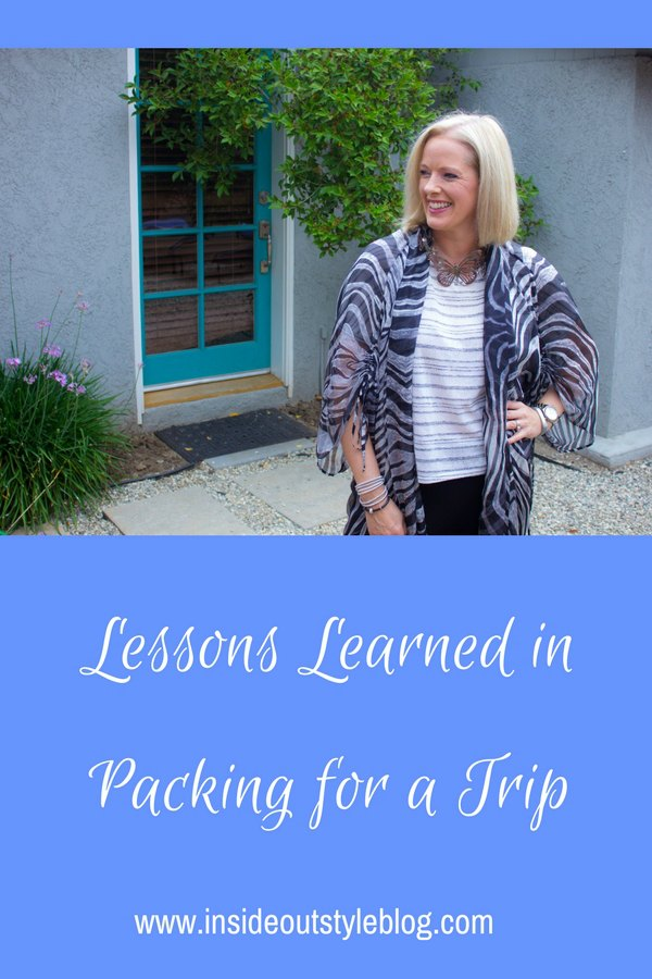 Lessons learned when packing for a trip to Mexico and LA