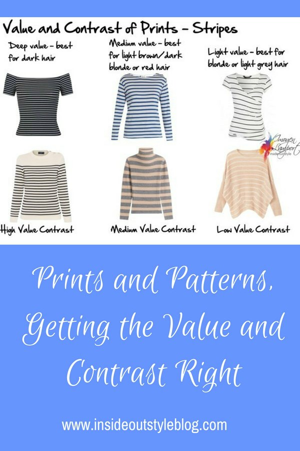 How to choose the prints and patterns to flatter you - understanding value and value contrast in prints