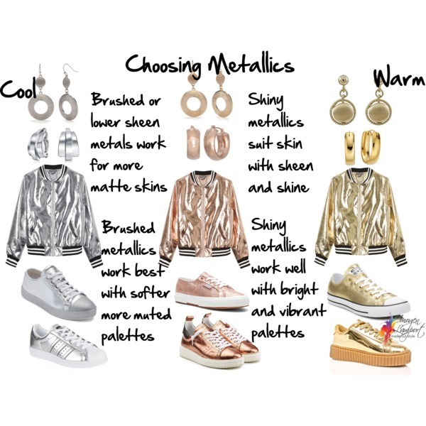 How to choose metallic jewellery and garments based on your skin sheen, colour palette and undertone - click here to discover more