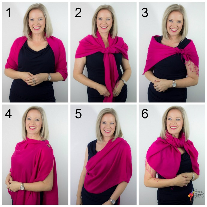 6 Ways To Wear A Pashmina Wrap Over An Evening Dress Inside Out Style
