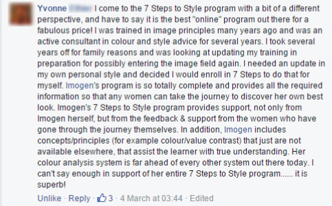 7 Steps to Style program - testimonial - find out what others think about it