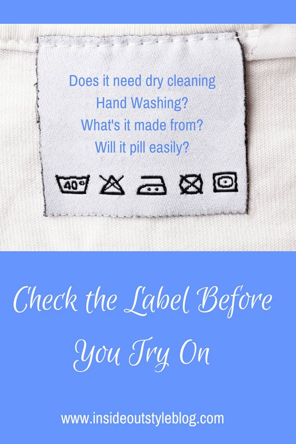 Why you should check the care label before you try on (or buy) a piece of clothing