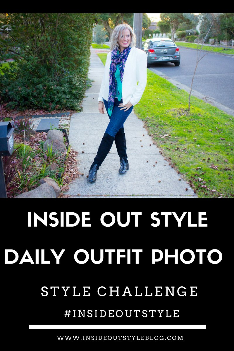 Improve your style with the Inside Out Style daily outfit photo challenge #insideoutstyle