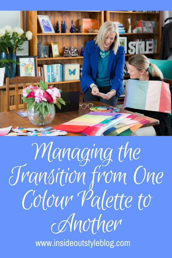Managing the Transition from One Colour Palette to Another