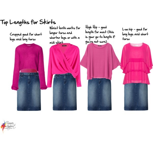 Top Lengths for Skirts and Pants