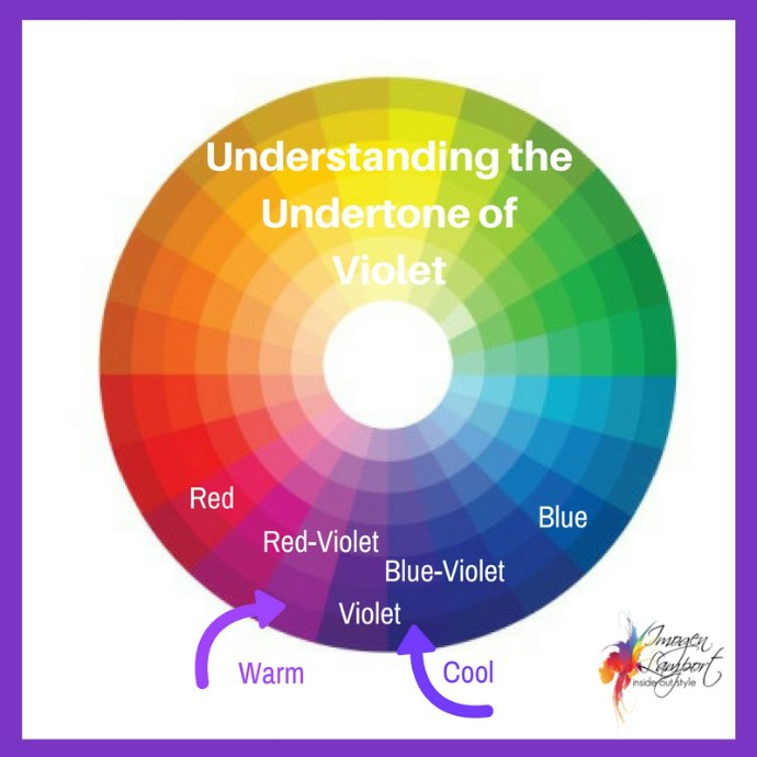 How to pick the undertone of violet or purple