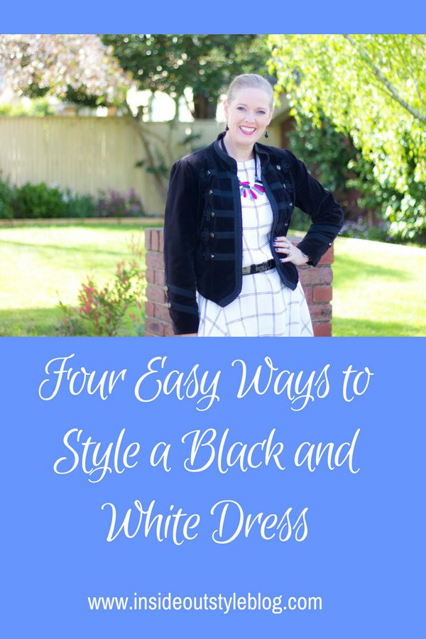 Four Easy Ways to Style a Black and White Dress