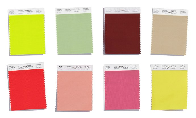Pantone Spring 2018 Warm undertone colours