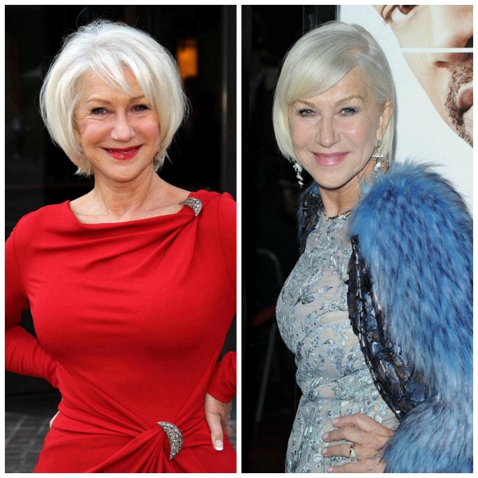 How to wear a colour that's too bright for you - wear a brighter lipstick - Helen Mirren in Bright Lipstick