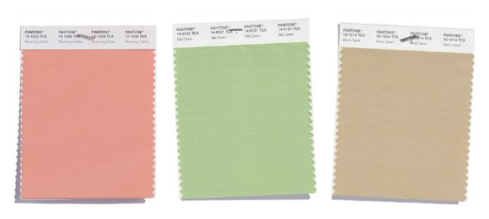 Pantone Spring 2018 Intriguing Colours