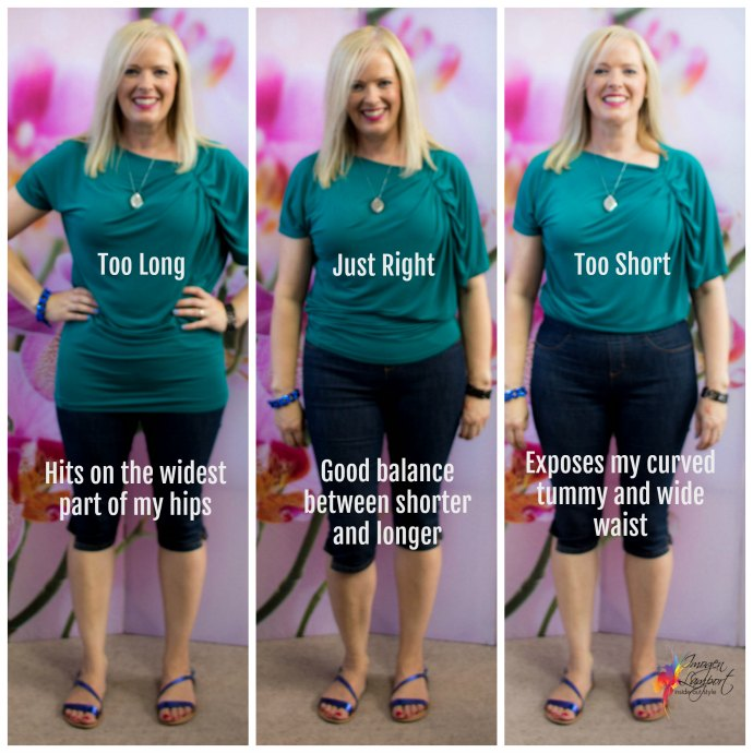 where to end tops to slim your hips and tummy
