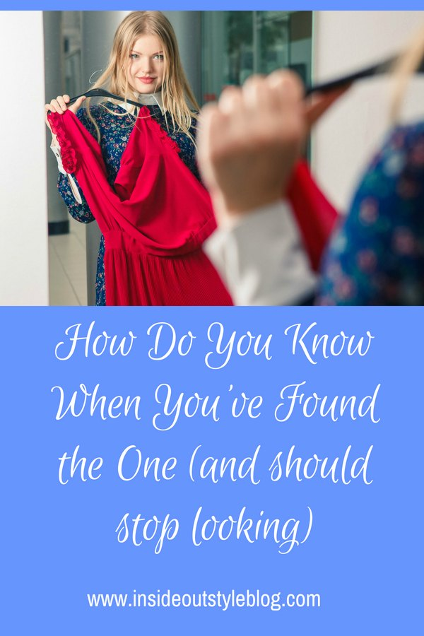 How Do You Know When You've Found the One (and should stop looking)