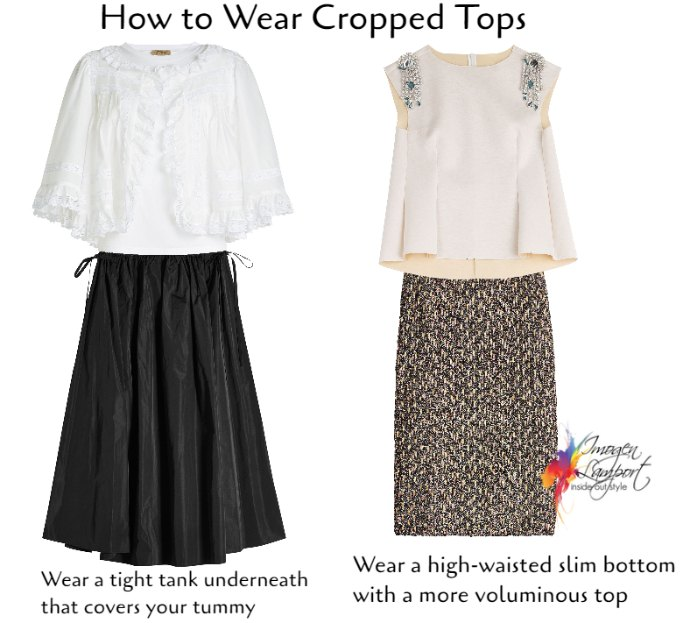 how to wear cropped tops