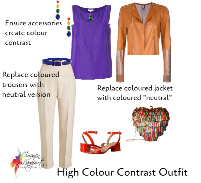 How to make a high colour contrast outfit blend in rather than stand out - working with your more quiet personality style (ISFJ and ISTJ)