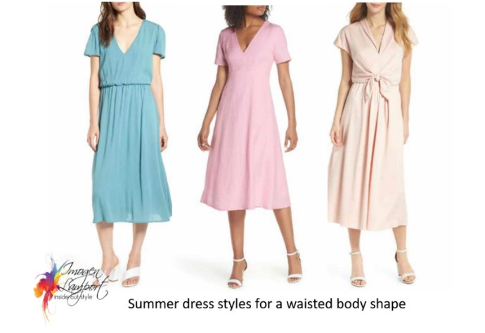 Summer dresses for waisted body shapes