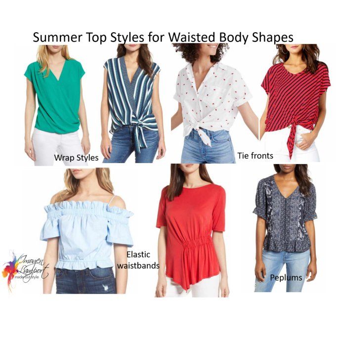 Summer top styles for waisted body shapes - what to wear when it's hot and humid