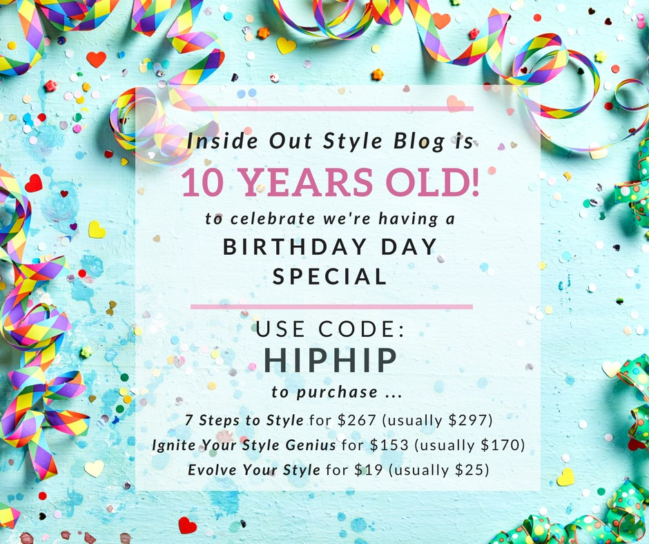 Inside Out Style 10 Year Blogging Anniversary Sale