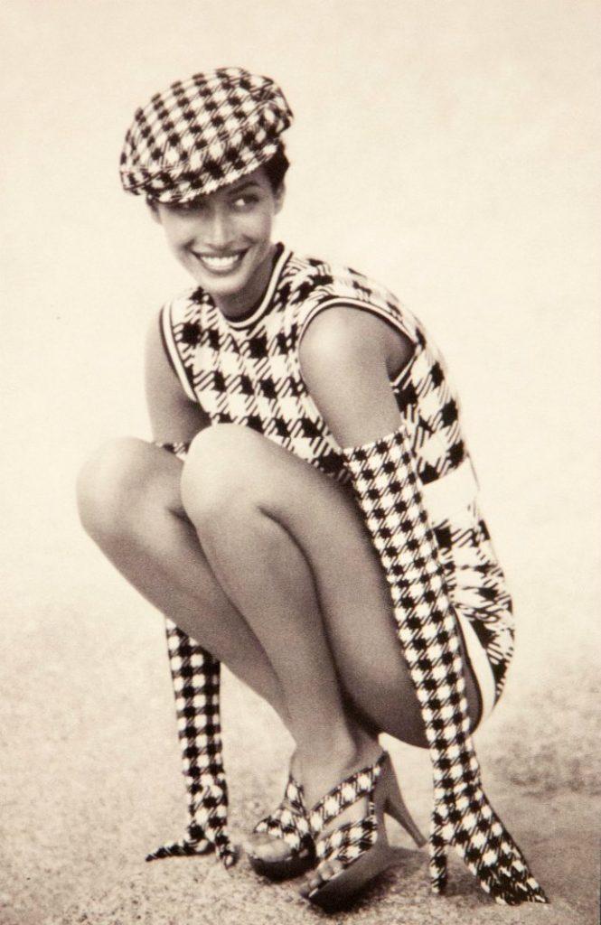 Christy Turlington wearing Azzedine Alaia photo by Patrick Demarchalier